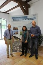 Nationalparkleiter Ulrich Meßner, Dr. Susanne Bocher Museumspädagogin Schloß Mirow, neben ihr der Bürgermeister von Mirow Karlo Schmettau.© Nora Künkler