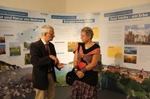 Ulrich Meßner, Leiter des Nationalparkamtes im Gespräch mit der Presse