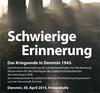 Foto: Schwierige Erinnerung. Das Kriegsende in Demmin 1945. 30.04.2015, Friesenhalle Demmin.