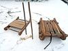 Schlitten fahren und Schlittschuh laufen wie die alten Slawen – mit Schlittknochen und Holzschlitten! Foto: LAKD M-V