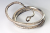 Eines der Prachtstücke in der Ausstellung: Der silberne Armring aus der Zeit um 820 n. Chr., gefunden bei Anklam. Foto: LAKD M-V, S. Suhr