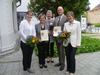 Nach der Urkundenübergabe Frau Dr. Christine Grünewald mit den Amtsleitern und Umweltmanagementbauftragten beider EMAS-zertifizierten Behörden